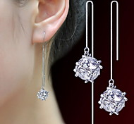 cheap -Women's 1 Drop Earrings Cute Party Fashion Adorable Imitation Pearl Pearl Alloy Circle Jewelry Party Daily Costume Jewelry