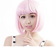 "Neitsi 100% Kanekalon Fiber 14""(35cm) 160g/pc Women's Girl's Cosplay Short Synthetic BOB Hair Wig Light Pink"