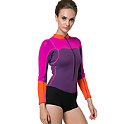 cheap -SBART Women's Wetsuit Top Thermal / Warm Full Body Compression Tactel Neoprene Long Sleeves Top Diving Snorkeling