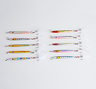 """10 Stück Harte Fischköder Metallköder Jigs Angelköder Metallköder Harte Fischköder Jigs Verschiedene Farben g/Unze mm/2-1/4"""" Zoll,Blei"""