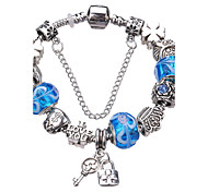 Women's Pulseiras Femininas of Silver Plated DIY Lock Charms and Beads Bracelet #YMGP1031 Christmas Gifts