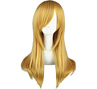 Косплэй парики Yu-Gi-Oh Aika S. Granzchesta Золотистый Средний Аниме Косплэй парики 60 CM Термостойкое волокно Мужской / Женский