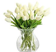 Недорогие -1 Филиал Шелк Полиуретан Тюльпаны Букеты на стол Искусственные Цветы
