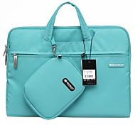 gearmax® 14inch / 15inch водонепроницаемый портативный кейс для ноутбука / мешок сплошной цвет синий / зеленый / розовый / серый