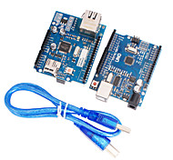cheap -Improved Version UNO R3 + Upgraded Version Ethernet W5100 R3 Shield Network Board Support Mega2560