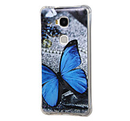 azul padrão de borboleta caso à prova de choque interna granulada TPU ar para Huawei honra jogo 5x / 5x de honra