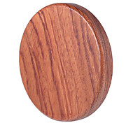 cheap -Portable WT - 510 High Quality Qi Wireless Charger Transmitter Wooden Pad Round Launcher with LED Indicator Light
