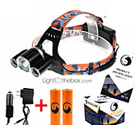 U'King ZQ-X821 Headlamps Headlamp Straps Headlight LED 5000ML lm 4 Mode Cree XM-L T6 Rechargeable Compact Size High Power Easy Carrying