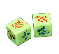cheap -Dice Spoof Fun Dice Toys Spoof Fun Plastic Romance 2 Pieces Christmas Valentine's Day Gift