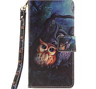 cheap -Painted Owl Pattern Card Can Lanyard PU Phone Case For Sony Z2 Z3 Z3mini M4