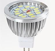gu5.3 (mr16) led spotlight mr16 15 smd 5730 650lm теплый белый холодный белый 2700-6500k декоративный dc 12v