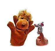 cheap -Lion Finger Puppets Puppets Hand Puppet Cute Lovely Novelty Cartoon Textile Plush Girls' Boys' Gift