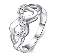cheap -Women's Cute Sterling Silver Infinity Band Ring - Infinity Personalized / Party / Work Silver Ring For Wedding / Party / Daily
