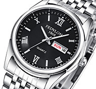 cheap -Men's Couple's Quartz Wrist Watch / Casual Watch Stainless Steel Band Casual Fashion Silver
