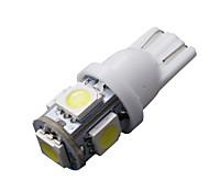 20 piezas blanca t10 5-SMD 5050 llevaron 6000k luz interior W5W bombillas 2825 158 192 168