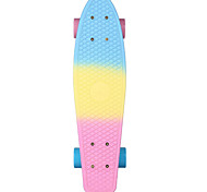 22 Inch Cruisers Skateboard Professional PP (Polypropylene) Abec-7-Blue+Pink Rainbow