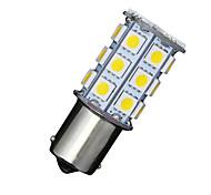 2 x Auto rv warmweiß 1156 BA15S 27-SMD 5050 Blinkerumgekehrter LED-Lampen