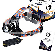 U'King ZQ G7000 Headlamp Straps LED 3000LM lm 3 Mode Cree XM-L T6 Adjustable Focus Rechargeable Compact Size High Power Easy Carrying for