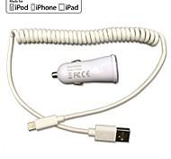 FCC CE chargeur de voiture certifié 1a / 2.1a sortie double + câble foudre de printemps certifié pomme de mfi pour iPhone 6 iPhone5 ipad