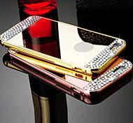 Для Кейс для iPhone 6 / Кейс для iPhone 6 Plus Стразы / Покрытие / Зеркальная поверхность Кейс для Задняя крышка Кейс для Один цвет