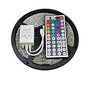 Недорогие -zdm® 5m не-водонепроницаемые светодиоды 300 x 5050 rgb с дистанционным контроллером 44key ir rgb с вырезом для самоклеющихся линз dc12v 1set