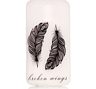 Feathers Pattern Relief Glow in the Dark TPU Phone Case for Motorola Moto G4 Play / G 4