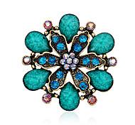 женские смолы лист большой кристалл горный хрусталь золота гальваническим цветок булавки ювелирные броши для партии / ежедневно