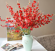 cheap -1 Branch Polyester Plastic Others Floor Flower Artificial Flowers