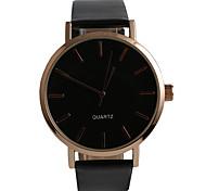 Недорогие -Мужской Модные часы Защита от влаги Кварцевый PU Позолоченное розовым золотом Группа Повседневная Черный