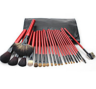 22 Makeup Brush Set Mink Hair Portable Wood Face Cosmetic Beauty Care Makeup for Face