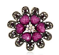 Недорогие -женщин марочные смолы лист кристалл горный хрусталь золота гальваническим цветок булавки ювелирные броши для партии / вскользь
