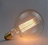 e27 40w g125 bulbo de alambre recto bombillas decorativas edison retro bulb