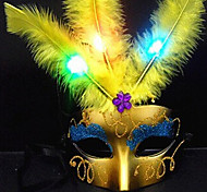 cheap -1PC Led Random Color Hallowmas Ball Stage Modern Fancywork Mask Night Light