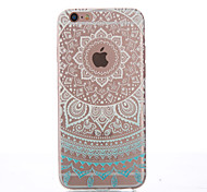Semicircle Flower Thin Material Transparent TPU Phone Case for iPhone 5/5S /5E/6/6S/6 Plus/6S Plus
