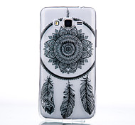 TPU Material Black Campanula Pattern Cellphone Case for Samsung Galaxy J710/J510/J5/J310/G530/G360