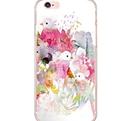 Flower and Bird Designs TPU Ultra-thin Translucent Soft Back Cover for Apple iPhone 6s Plus/6 Plus/ 6s/6/ SE/5s/5