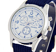 Недорогие -Муж. Кварцевый Наручные часы Модные часы / Повседневные часы Материал Группа На каждый день Cool Черный Синий Зеленый