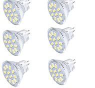 Недорогие -YouOKLight 350 lm GU4(MR11) Точечное LED освещение MR11 15 светодиоды SMD 5733 Декоративная Тёплый белый Холодный белый 9-30