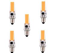 E11 Luci LED Bi-pin T 1 leds COB Oscurabile Decorativo Bianco caldo Luce fredda 400-500lm 2800-3200/6000-6500K AC 110-130V