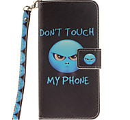 Painted Anger Pattern Card Can Lanyard PU Phone Case For Samsung Galaxy S5 S6 S7 edge Plus