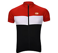 Спорт Велоспорт Верхняя часть Муж. Короткие рукаваДышащий / Быстровысыхающий / Передняямолния / Сжатие видеоизображений / Задний карман
