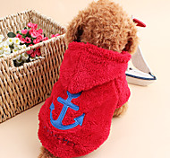 cheap -Cat Dog Hoodie Dog Clothes Sailor White Gray Rose Red Blue Corduroy Costume For Pets Men's Women's Cute Keep Warm