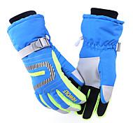 Недорогие -Перчатки для велосипедистов Лыжные перчатки Муж. Жен. Сохраняет тепло Водонепроницаемость С защитой от ветра холст Катание на лыжах