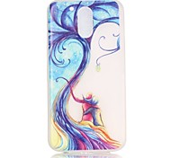 Young Couple Tree Pattern Relief Glow in the Dark TPU Phone Case for Motorola Moto G4 Play / G 4