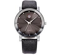 Муж. Модные часы Кварцевый / Кожа Группа Кулоны Черный Синий Коричневый