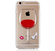 KARZEA™ Flowing Liquid Water Wine Glass Pattern TPU Back Cover Case for iPhone 6s 6 Plus