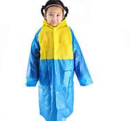 Red / Green / Blue / Pink Raincoat Rainy Plastic Kids / Travel