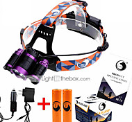 U'King ZQ-X826 Headlamps Headlamp Straps Headlight LED 5000 lm 4 Mode Cree XM-L T6 Adjustable Focus Rechargeable Easy Carrying Zoomable