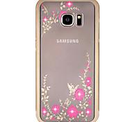 Metal frame Diamond plating Secret Garden For iPhone Samsung S5/S6/S6edge/S6edge plus/S7/S7edge
