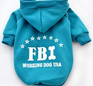 Cat Dog Hoodie Dog Clothes Winter Spring/Fall Letter & Number Casual/Daily Sports Black Yellow Red Blue